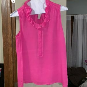 PINK JCREW BLOUSE